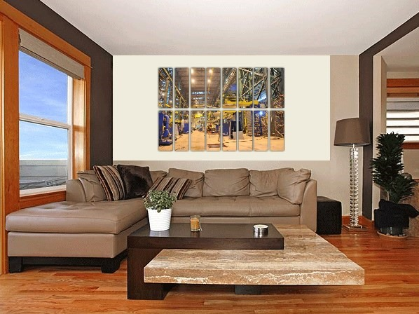 Artistic factories on multi panel canvas prints - 2