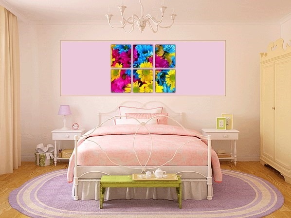 Flowers Multi Piece Canvas Prints - 2