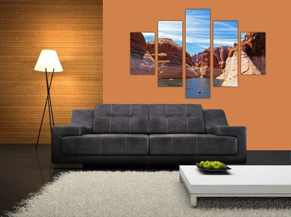 Mountains Multi Panel Canvas Prints - 2