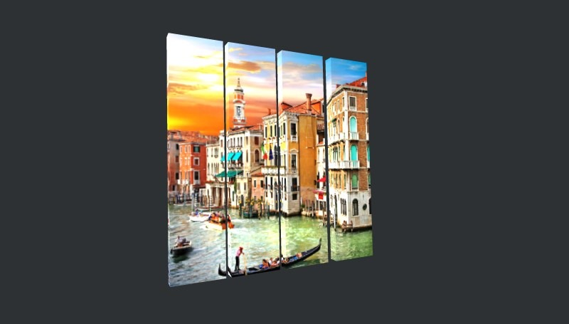 Venice Multi Panel Canvas Prints - 1