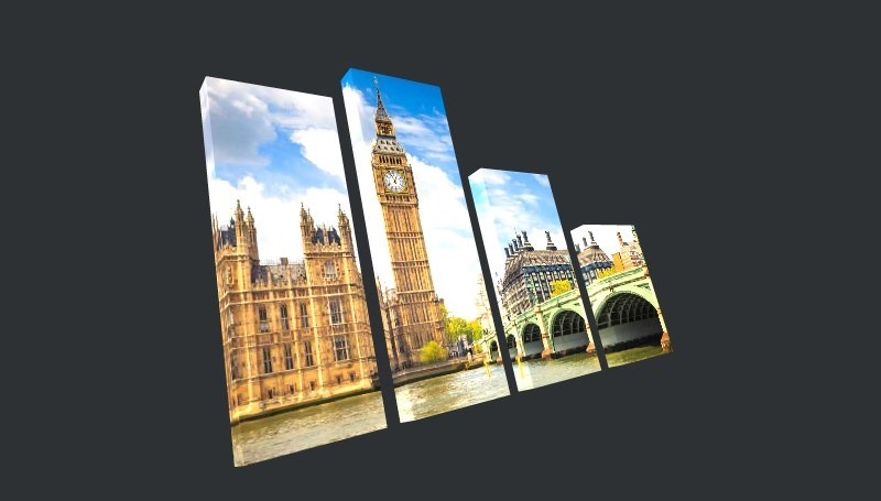 London Multi Panel Canvas Prints - 1
