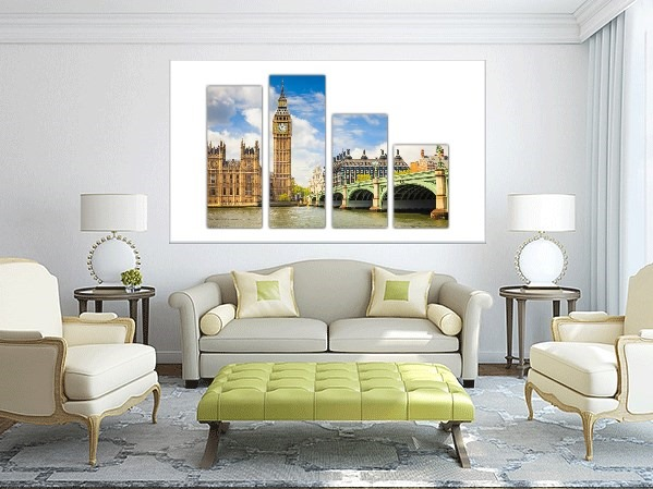 London Multi Panel Canvas Prints - 2